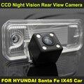 Night vision com 4 lâmpadas LED Car Câmara de Visão Traseira PARA HYUNDAI Santa Fe 2013 IX45 2014 2015 8224CCD Câmera Reversa Do Carro