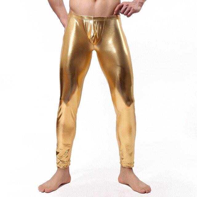 Спят днища мужские нижнее белье пижамы брюки длинный джон пвх спандекс салон брюки удобная одежда этап носить костюмы