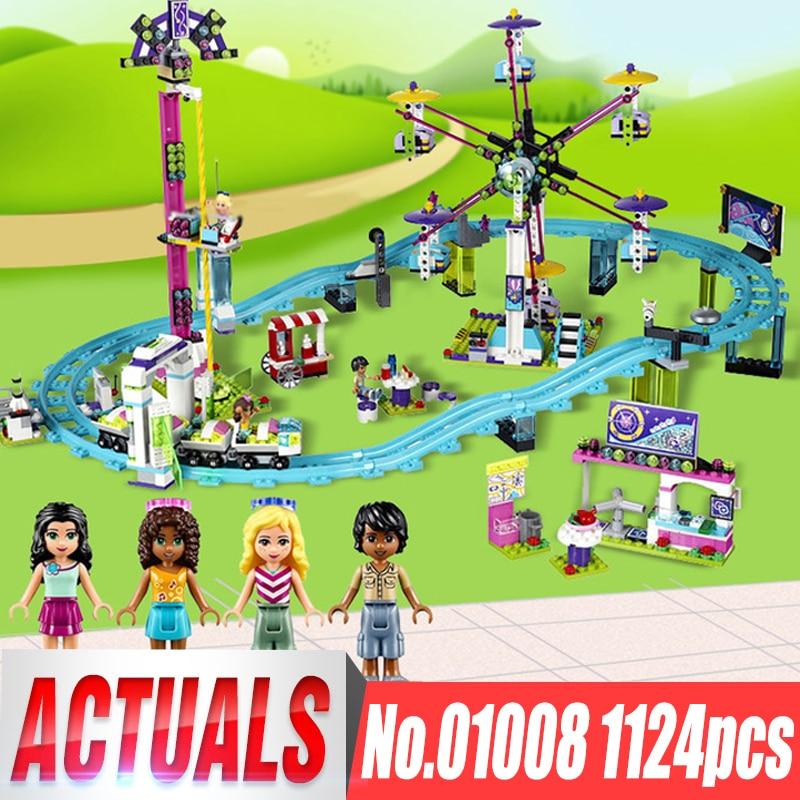 Amusement Park Coaster Lepin 01008 Friends Bricks Figure Educational Set legoingls 41130 Building Blocks Model Toys For Children все цены