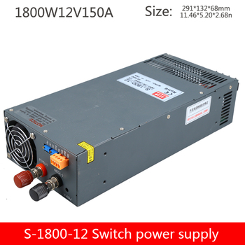 S-1800-12v150a switching power supply 1800W constant voltage constant current high power power supply 0-12V adjustable power sup