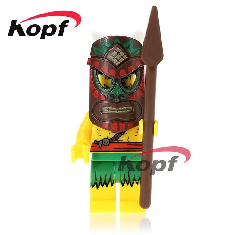 50Pcs XH 636 Super Heroes Historic Site Quest Aborigines Tutankhamun Hun Warrior Bricks Model Building Blocks Children Gift Toys