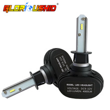 One pair H1 led car headlight Automobile Headlamp Fog Light Bulb Repalcement 6500K White Car Styling