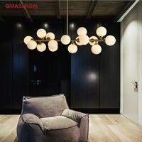 Moden Art Pendant Light Gold Black Magic Bean Led Lamp Living Dining Room Shop Led Striplight