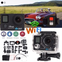 LCD Dual Screen Ultra HD 4K Action Camera 16MP Wifi 1080P Action Sports Camera Go Waterproof pro Bike Helmet Cam +Remote Control