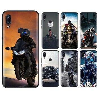 Перейти на Алиэкспресс и купить Черный мягкий чехол для Xiaomi Redmi K30 5G K20 Pro Note 8T 8 7S 7 6 8A 7A 6A Moto Cross мотоциклетный спортивный Чехол