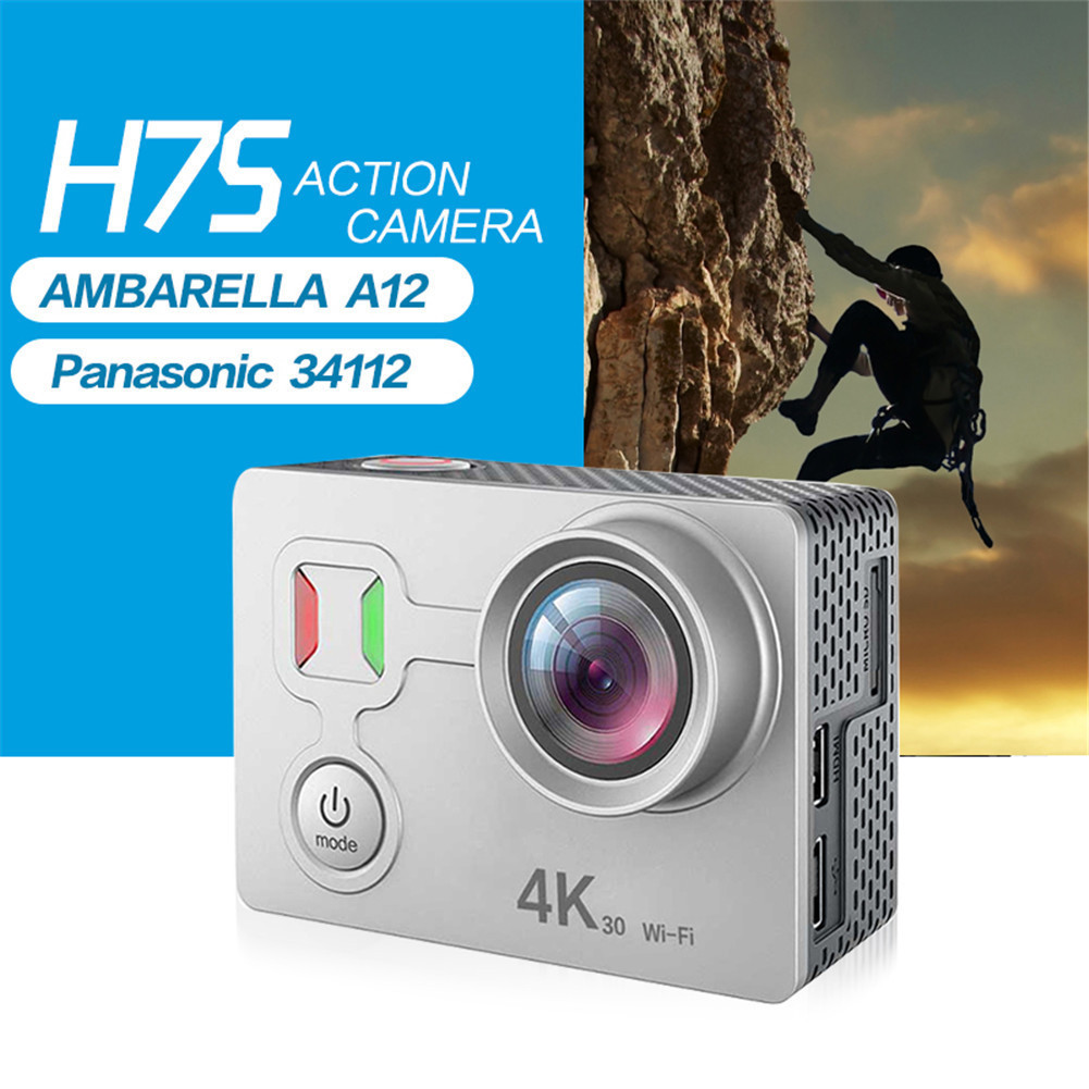 H7S 40M Waterproof Camcorder Digital WiFi Sport Action Camera 4K 30fps HD Anti-shake Underwater DV Camera Remote Shooting 2017 arrival original eken action camera h9 h9r 4k sport camera with remote hd wifi 1080p 30fps go waterproof pro actoin cam