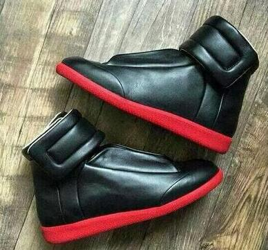 real leather red bottom sneakers mens high top luxury