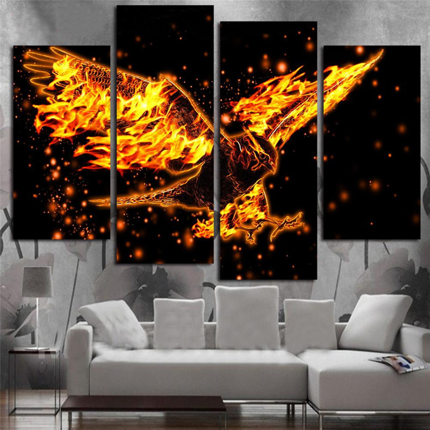 Unframe Eagle Canvas Painting Hot Sale Animal Painting On Canvas Cuadros Decoracion 2017 Wall Picture For Home Decoration