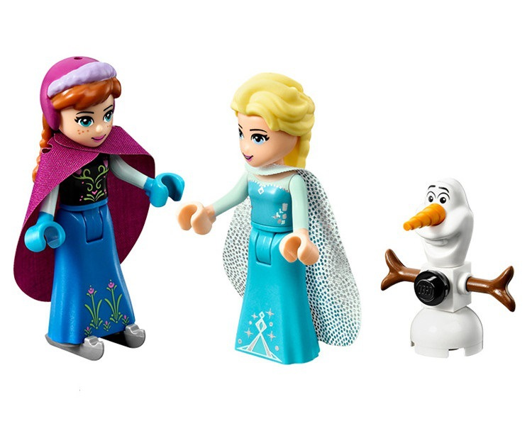 2018 New Playmobil Bela 10435 Girl Friends Elsas Sparkling Ice Castle Anna Elsa For Queen Kristoff Olaf Building Blocks Toys