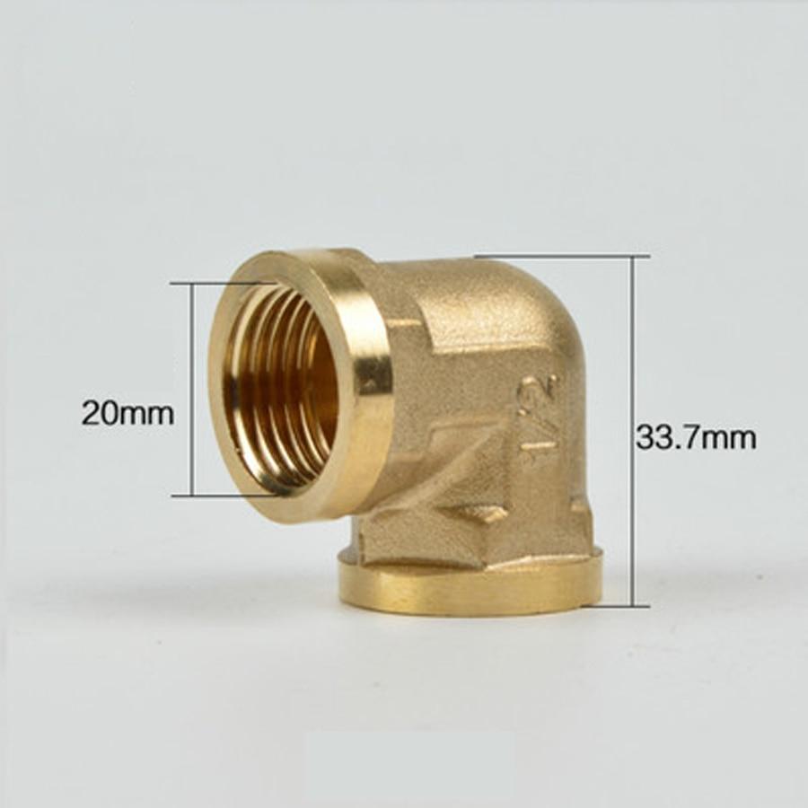 Dn15 1/2 bsp Female Elbow Messing Rohr Fitting Anschluss Sanitär Adapter Lenth 33,7mm Sanitär Rohrverbindungsstücke