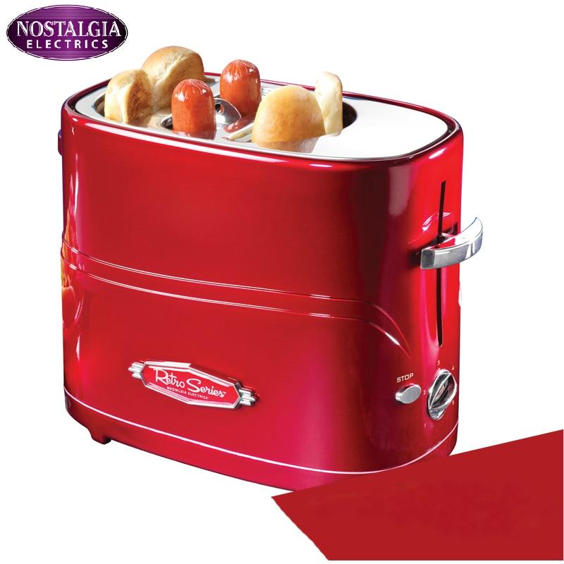 Household automatic mini breakfast machine,American household mini hot dog machine,Bread/sausage maker Toast furnace bread toast crumbs