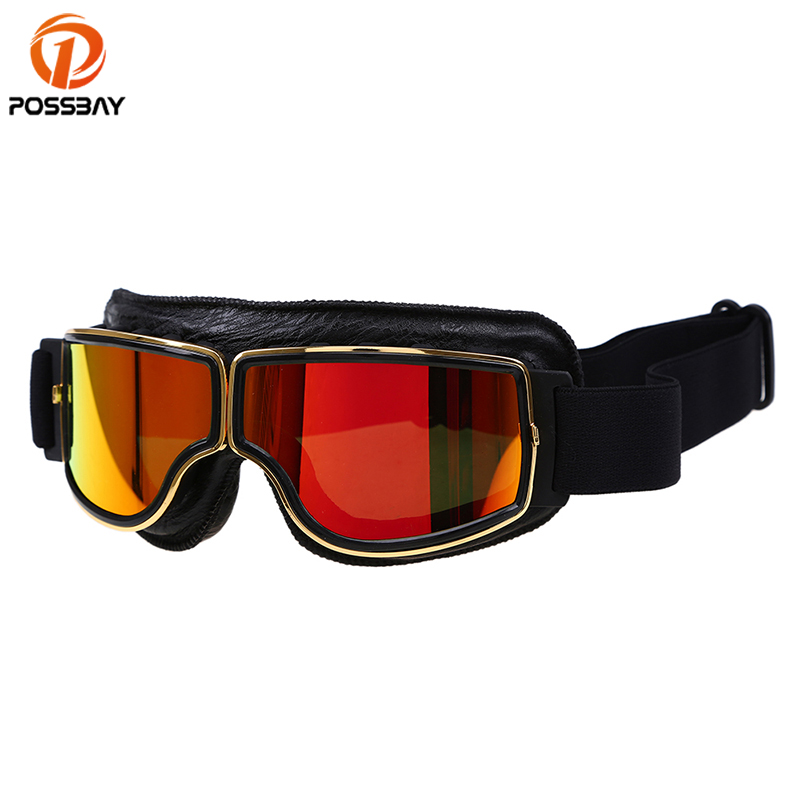 POSSBAY New Arrival Safety Skiing Eyewear Cycling Glasses Men Women Bike Motorbike Outdoor Sports Goggles Motorcycle Goggles