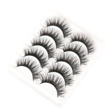 5 Pairs Handmade Black Voluminous False Eyelashes Makeup Very Thick Long Fake Eye Lashes Extention Tools