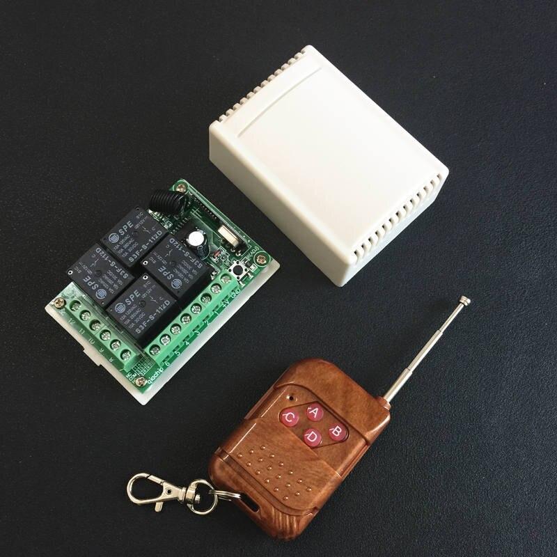 433 Mhz Universale Telecomando Senza Fili Interruttore DC 12 V 4CH relay Modulo Ricevitore Con 4 canali RF Remote 433 Mhz Trasmettitore