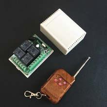 Commutateur de télécommande sans fil universel 433 Mhz Module de récepteur de relais cc 12V 4CH avec émetteur à distance RF à 4 canaux 433 Mhz