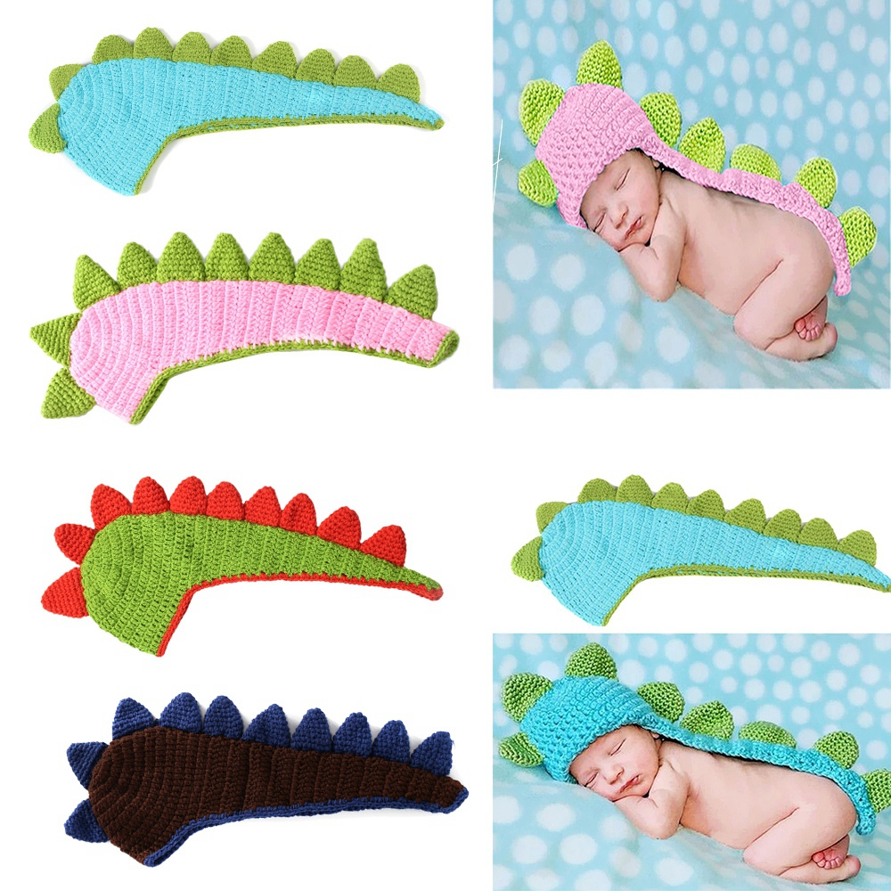 Newborn Photography Props Knitted Dinosaur Baby Hat Crochet Bonnet Infant Outfit Accessories Studio Photo Shoot  FotografiaNewborn Photography Props Knitted Dinosaur Baby Hat Crochet Bonnet Infant Outfit Accessories Studio Photo Shoot  Fotografia