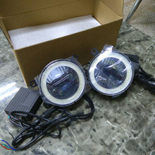 3in1 Punto Culminante LED Chips De LED Angel Eyes + LED de Circulación Diurna Light + LED Lámpara de La Niebla Para Suzuki Jimny 2007-2015 ciaz 2016