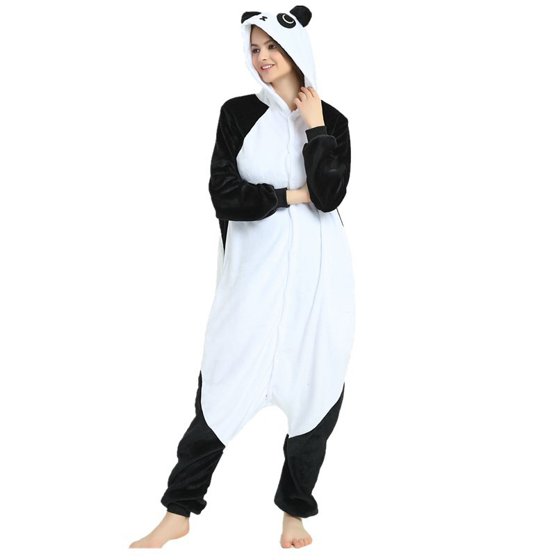 Cute Kungfu Panda Kigurumi Soft Flannel Cartoon Onesie Warm Panda Night-suit Set Cosplay Jumpsuit Party Sleepwear For Halloween (3)