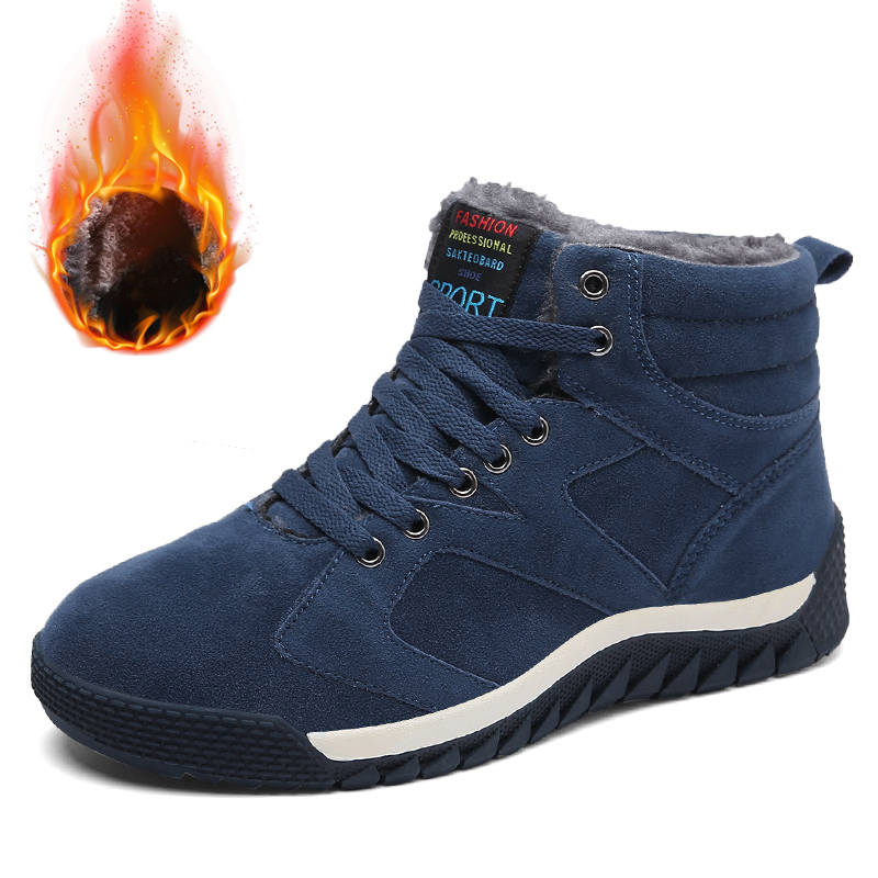 DR.EAGLE Mens Winter sneakers for men Boots Warm Outdoor Athletic male sports shoes Comfortable Running Shoes plus size 39-47