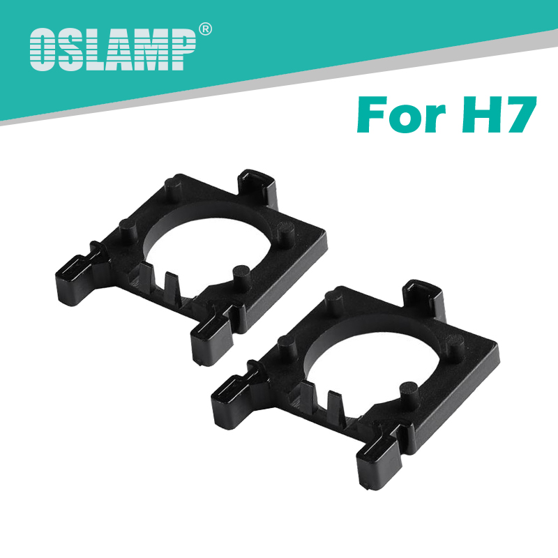 Oslamp Black Plastic Clip Retainer Adapter Holders for H7 LED headlight Bulbs Special H7 Socket Adapter