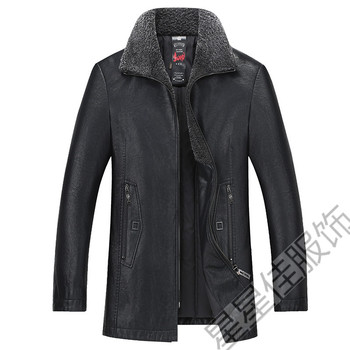 Plus size 10XL 9XL 8XL 6XL Men's Genuine Leather Down Coat Men Lambskin Biker Winter Warm Leather Coat Big large size loose