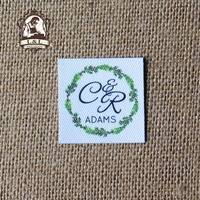 60 Custom Logo Labels Brand Labels Personalized Name Tags For Children Iron On Custom Clothing Labels