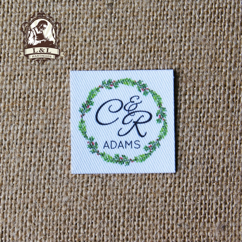 60 Custom logo labels / brand labels, personalized name tags for children, iron on,Custom Clothing Labels,Name Tags