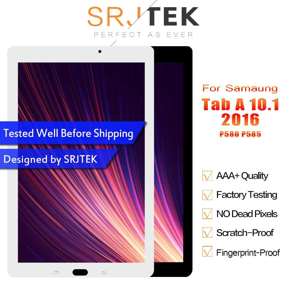 SRJTEK LCD For Samsung Galaxy Tab A 10.1 2016 P585 P580 SM-P585 SM-P580 Dispaly Matrix Screen Touch Digitizer Sensor Assembly