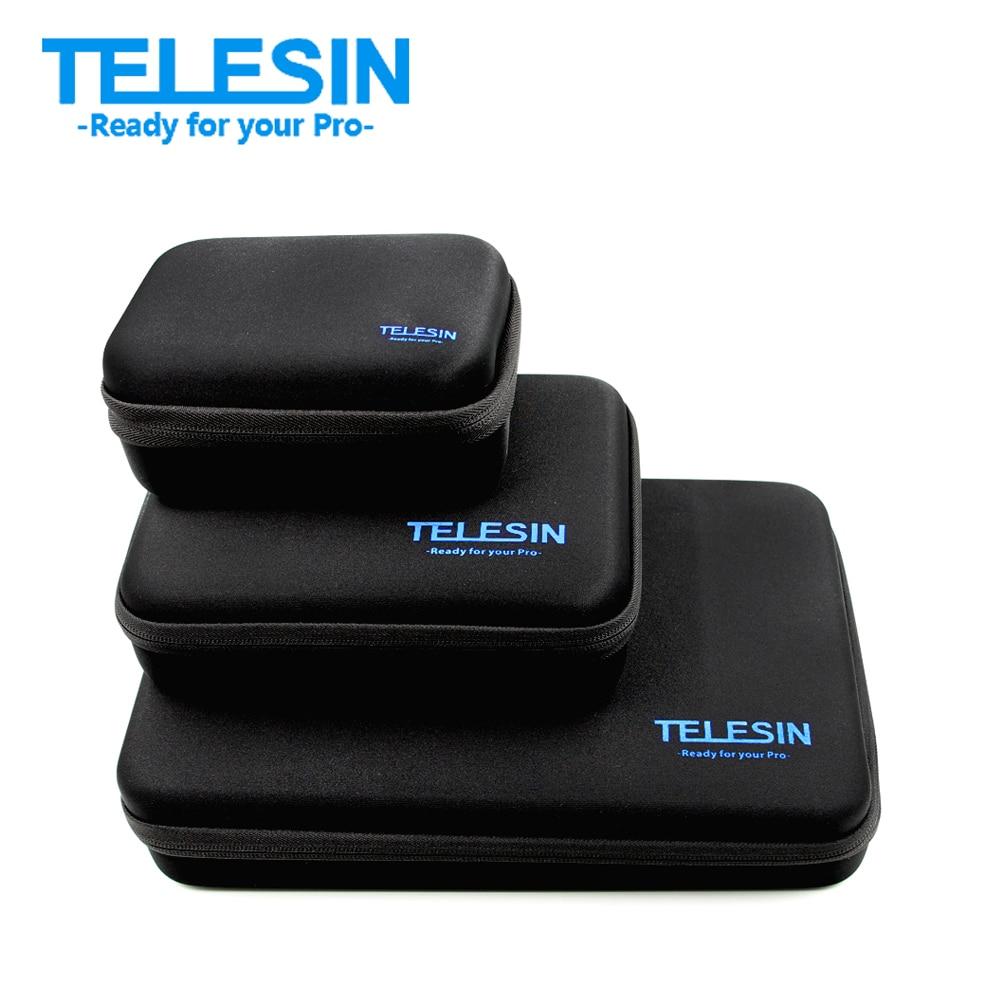 TELESIN M/S Size Carry Bag Travel Case Box for GoPro Hero 6 5 4 3 2 SJCAM SJ4000 Xiaomi Yi 4K 4K+ Camera Bag Case Accessories