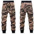 Homens Camuflagem Calças Basculador Mens Sweatpants Casual Novo 2017 Teste Padrão do Camo Corredores Harem Pants Frete Grátis