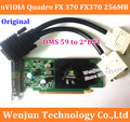 Original Quadro FX370 265MB 64bit video card PCI-E DMS-59 include DMS 59 to DVI cable DMS 59 warranty 1year