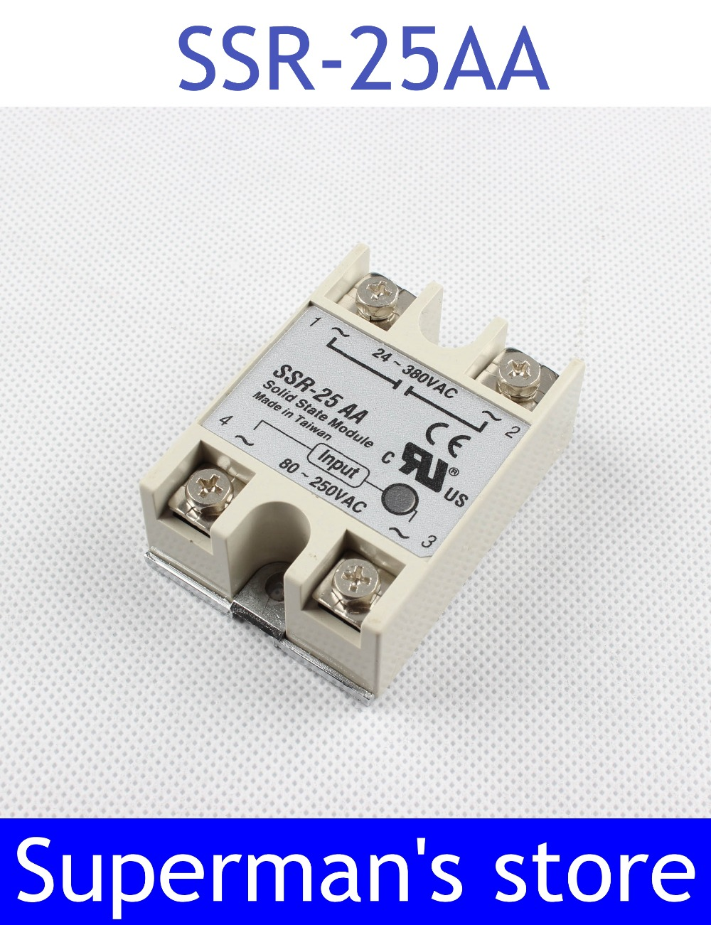 solid state relay SSR-25AA 25A  actually 80-250V AC TO 24-380V AC SSR 25AA relay High qualitysolid state relay SSR-25AA 25A  actually 80-250V AC TO 24-380V AC SSR 25AA relay High quality
