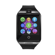 Free shipping Q18 Passometer Smart watch with Touch Screen camera TF card Suppoet Bluetooth font b