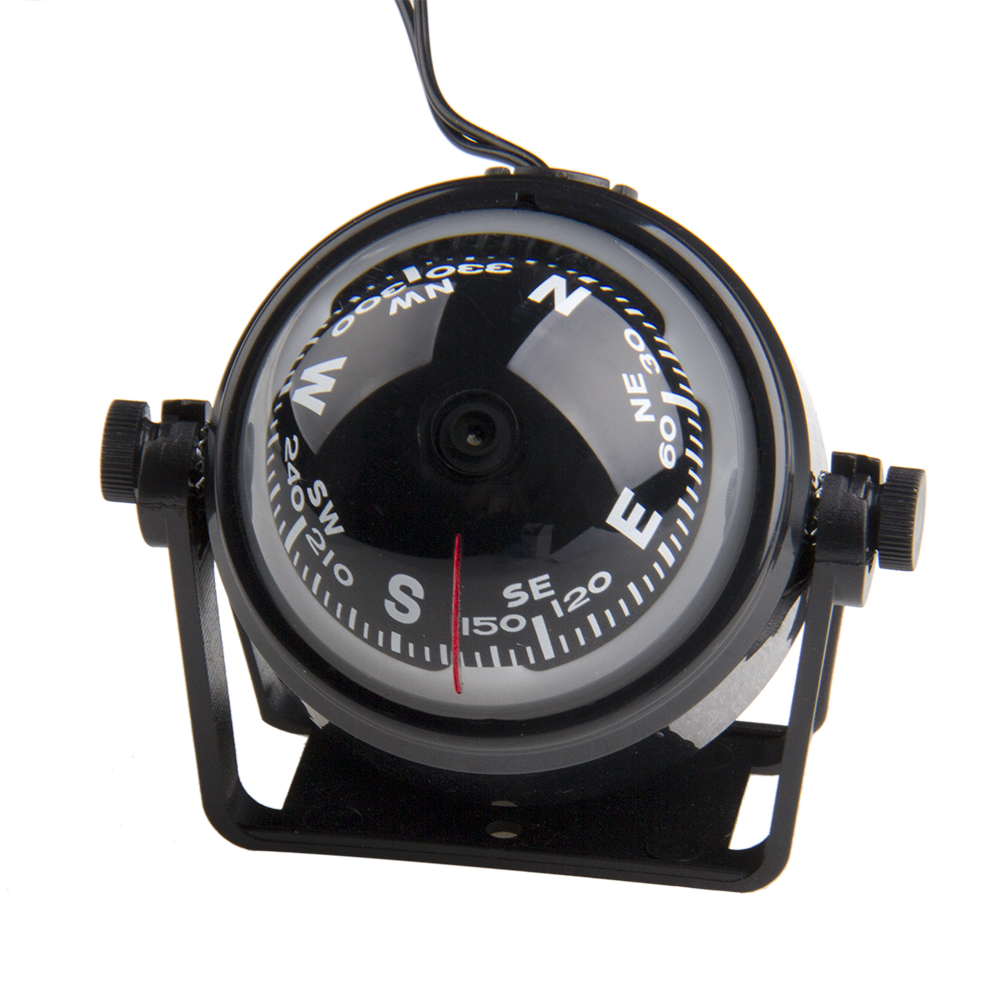 10x9cm Black Abs Macromolecule Plastic Led Light Digital Compass Magnetic Sphere Marine Military Electronic Boat Car Compass Marine Hardware