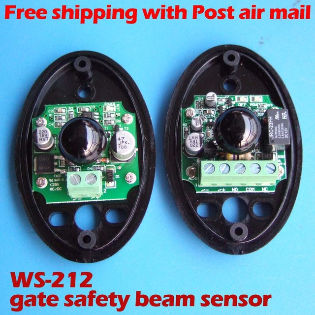 Infrared through beam safety beam sensor for sliding gate safety protection