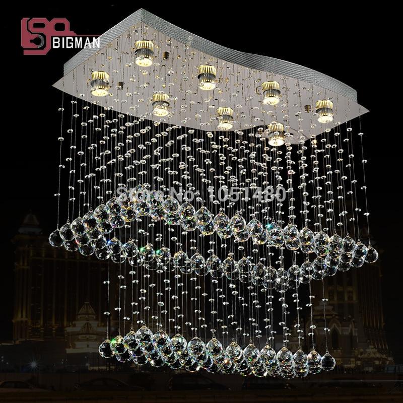 Hot sales flush mount crystal chandeliers lighting lustre foyer lights