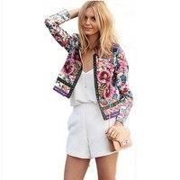 Womens Fashion Slim Floral Top Blouse Ladies Blazer Outwear Parka Overcoat Coat Jacket