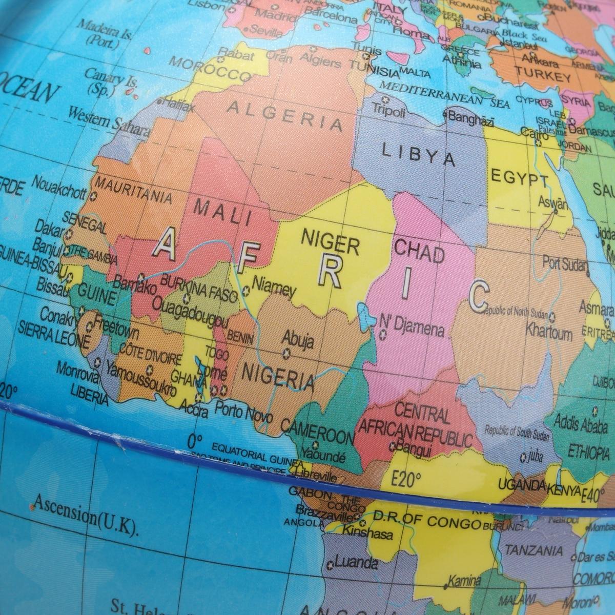 Modern Globo Terraqueo World Globe Earth Map 360 Rotating Globe
