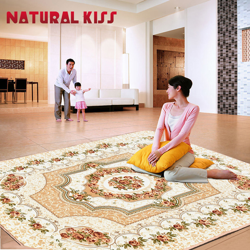 2020 New European style Living Room Big Area Decoration Carpet Bedroom Soft House Rugs Door Mat Coffee Table Carpets 130x190CM