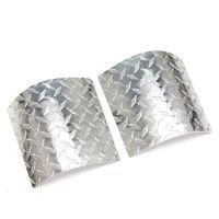 2pcs Aluminum Alloy Chrome Car Covers Side Armor Cowl Body Cover Set For Jeep Wrangler JK