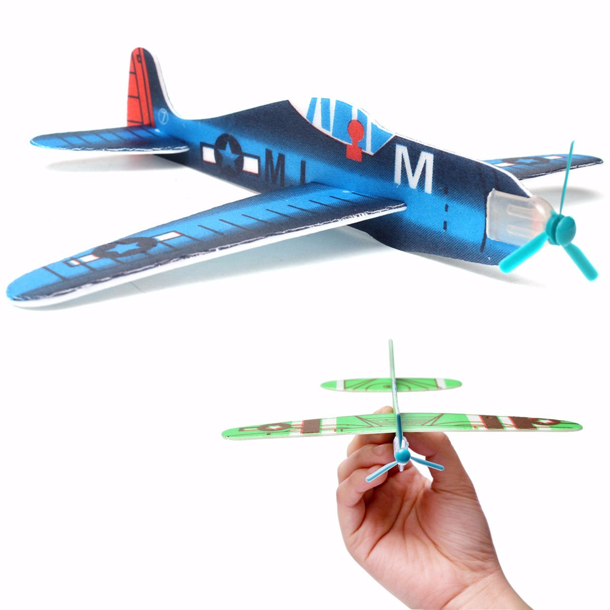 10Pcs DIY Flying Glider Planes Educational Toys For Children Hand Throwing Gift Birthday Christmas Party Bag Filler Multi Color image