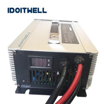 Professionnel adapté aux besoins du client 60V 25A chargeur de batterie affichage à led automatique rapide 60v chargeur de batterie de voiture pour lithium au plomb lifepo4