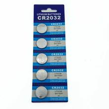 лучшая цена 5 PCS New CR2032 3V Button Battery Cell coin batteries for watch, toy, calculator Free Shipping