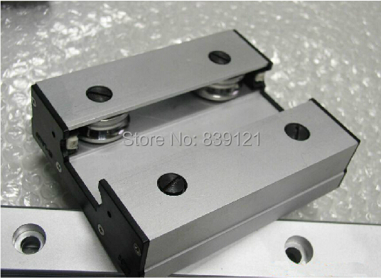 High speed linear guide roller guide external dual axis linear guide LGD12 with length500mm with LGD12 block 60mm length high speed linear guide roller guide external dual axis linear guide lgd12 with length300mm with lgd12 block 100mm length