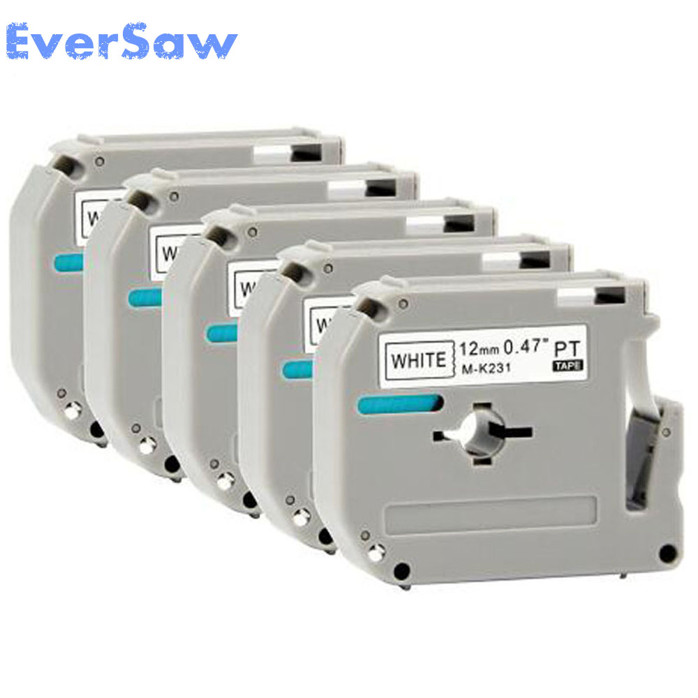 30 pcs/lot Free shipping Compatible Brother M tapes label cartridge M-K231 MK231 Mk 231 K231 for pt-85/90/100