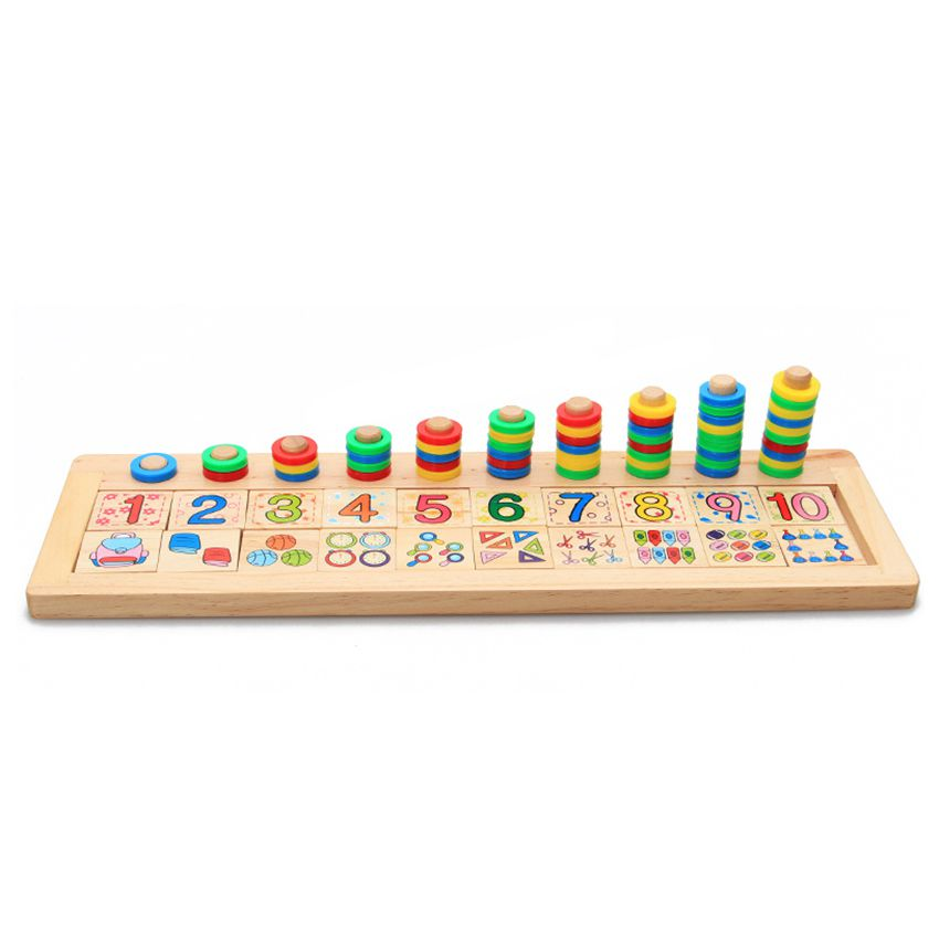 FBIL-Children Wooden Montessori Materials Learning To Count Numbers Matching Early Education Teaching Math Toys jbl clip plus black jblclipplusblk