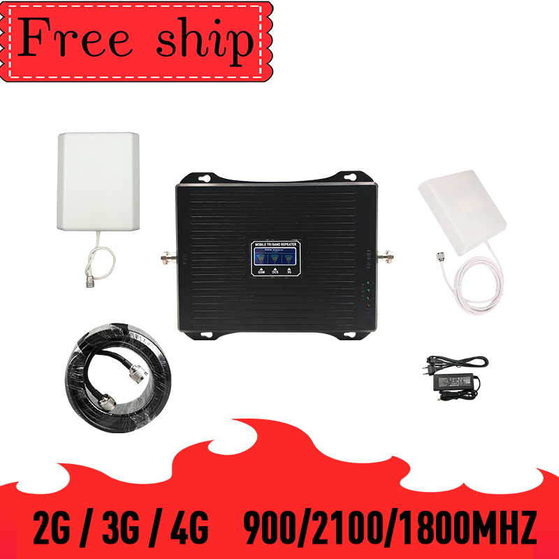 TFX-BOOSTER 2G 3G 4G Cell Phone Signal Booster Triple Band  Mobile Cellular Signal Repeater GSM 900 LTE 1800 WCDMA 2100mhz