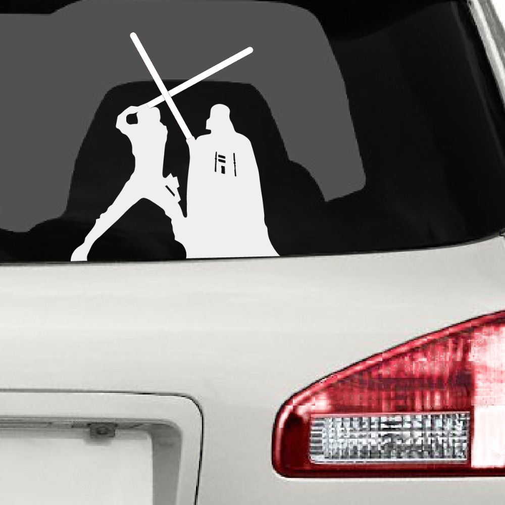 Amazon Com Lightsaber Jedi Knight Vinyl Decal Sticker For Wall Decor Home Office Sign Windows Motorcycle Vehicle Size 6 Inch 15 Cm Tall Gloss White Color Computers Accessories