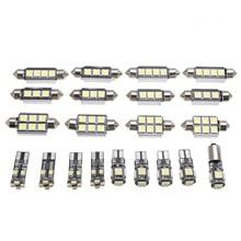 21pcs LED Kit Car Interior White LED Light Bulb Kit DC 12V 6000K for BMW 5 series M5 E60 E61 2004-2010 Car Styling