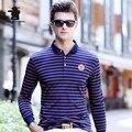 2016 Новых людей С Длинным Рукавом Polo Рубашки Осенняя Мода Полосатый высокое Качество Плюс Размер Бизнес Случайный Polo Shirts For Men CB17D02